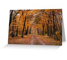 Rush River Autumn Greeting Card