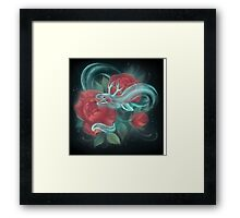 Ghost eel and roses Framed Print