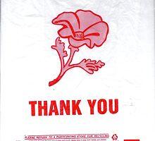 Wild Geranium Thank You Bag Logo II by janiedoe
