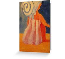 Sitting Woman in Towel Greeting Card