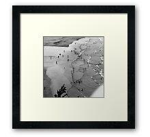 Figures in a Landscape Framed Print