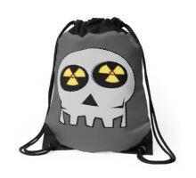 NUCLEAR FALL-OUT SKULL by Chillee Wilson Drawstring Bag