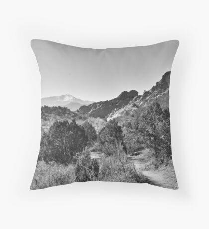 Three Peaks HDR Throw Pillow