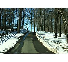 Wintery Road at Montpelier Photographic Print