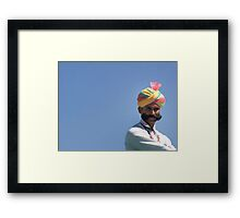 With great mustache comes great responsibility Framed Print