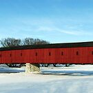 Winter At  The Kissing Bridge - West Montrose, Ontario by jules572