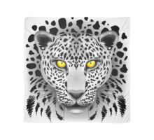 White Leopard with Yellow Eyes Scarf