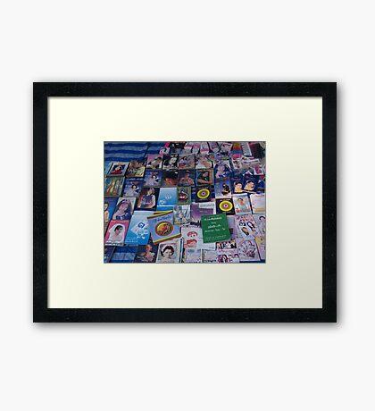 Shan books for sale Framed Print