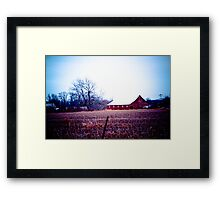 RED BARNS ARE STILL IN STYLE! Framed Print