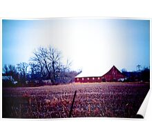 RED BARNS ARE STILL IN STYLE! Poster
