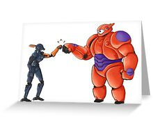 chappie and bymax Greeting Card