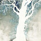 White Tree  Colour Manipulation by Therese Doherty