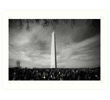 Black and White of The Washington Monument  Art Print
