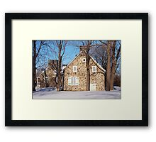 Historic Canadian Houses Framed Print