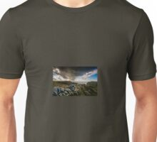 Rain Clouds Over Tintagel, Cornwall. UK Unisex T-Shirt