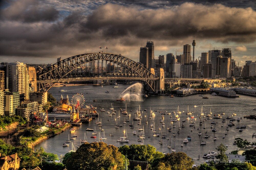 Celebration - Sydney Harbour New Years Eve - The HDR Experience by Philip Johnson