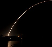 Delta 2 Night Launch with GPS 2R Satellite by Per Hansen