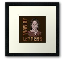 Man of Letters Sam Winchester Framed Print