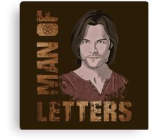 Man of Letters Sam Winchester Canvas Print