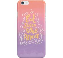 Eat, Sleep, Bike, Repeat! iPhone Case/Skin