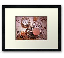 """"""" My Mother's Timepiece With A Sterling Heart On Belgium Lace"""" Framed Print"""