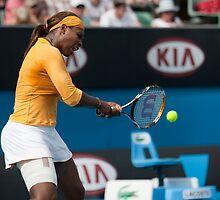 Serena rips into it - Australian Open 2010 by Peter Hancock
