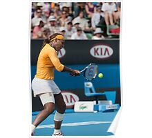 Serena rips into it - Australian Open 2010 Poster