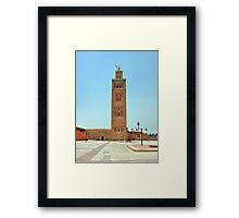 Koutoubia Mosque Framed Print