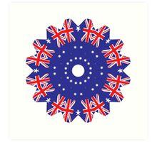 Australian Flag 03 Art Print