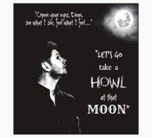 Let's Go Take A Howl At That Moon - new Supernatural design! Kids Tee