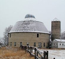 Round Barn on a Snowy Day by livinginoz