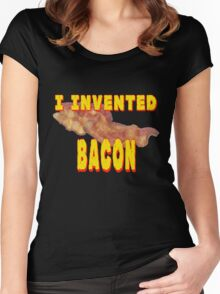 I Invented Bacon Women's Fitted Scoop T-Shirt