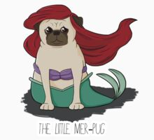 The Little Mer-Pug One Piece - Short Sleeve