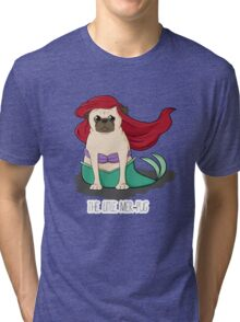 The Little Mer-Pug Tri-blend T-Shirt