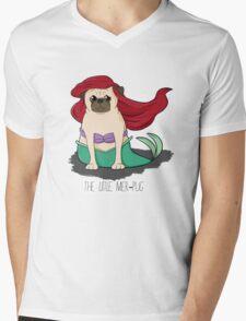 The Little Mer-Pug Mens V-Neck T-Shirt