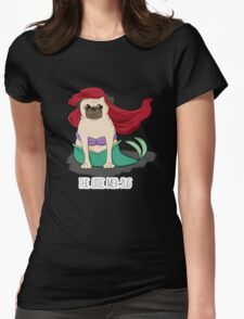 The Little Mer-Pug Womens Fitted T-Shirt