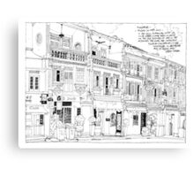 Streetscape Singapore Canvas Print