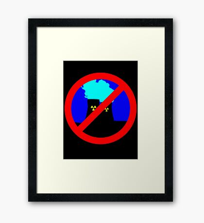 NO NUCLEAR POWER by Chillee Wilson Framed Print