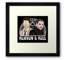 Heaven and Hell Framed Print