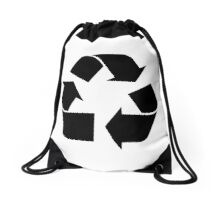 Recycle Symbol by Chillee Wilson Drawstring Bag