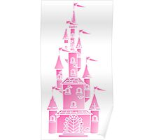 Pink Fairy Princess Castle Poster