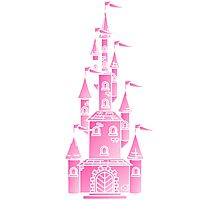 Pink Fairy Princess Castle Photographic Print