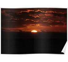 Cloudy Sunset Poster