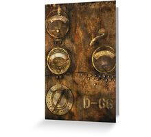 SteamPunk - Meters D-66 Greeting Card
