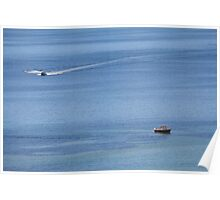 Boats on the Ocean Poster