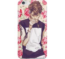 Roses, violets and fucks iPhone Case/Skin
