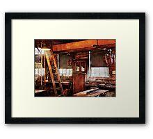 Woodworker - Old Workshop Framed Print