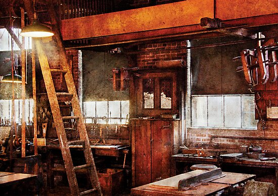 Woodworker - Old Workshop by Mike  Savad