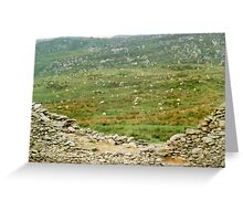 Top of the Wall -  Ireland's Staigue Fort  Greeting Card