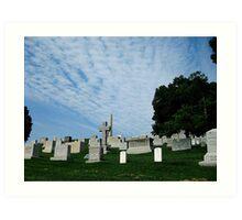 Hillside Graves Art Print